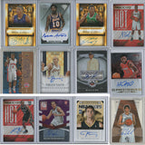 Lot of 12 Autographed Basketball Cards
