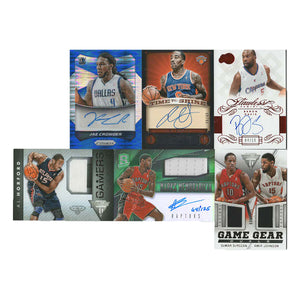 6 Card Lot - NBA Autographed & Jersey Basketball Cards