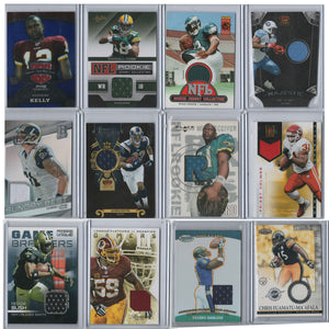 Lot of 12 Cards NFL Football Cards Authentic Jersey Patches 2000-2015 Rookie
