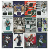 12 Card Lot - Panini Football Cards with Game-Worn & Player-Worn Materials