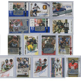 15 NFL & NCAA Card Lot - Autographed College & Rookie Football Cards