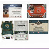 14 NFL Card Lot - Jersey Football Cards, 2001-2017