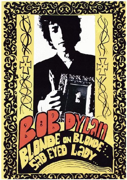 Bob Dylan Promo Poster Blond on Blond, 1966