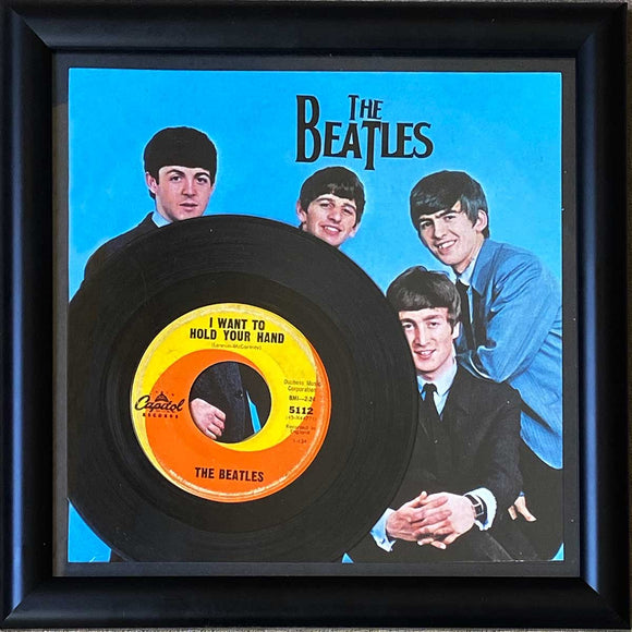 The Beatles 45 Vinyl Record Framed Picture