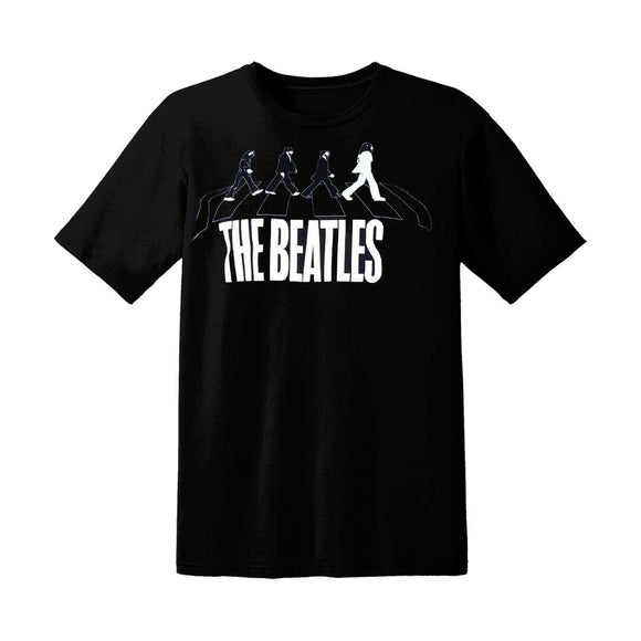 The Beatles Abbey Road T-Shirt, White on Black - Small - Small
