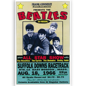 The Beatles Concert Poster Boston, 1966 Reproduction