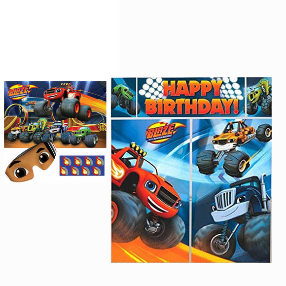 Blaze & The Monster Machines Wall Decorating Kit & Birthday Party Game