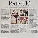 "Ray Bourque Autographed ""Perfect 10"" Poster 12x22"