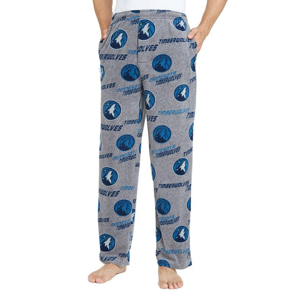 Mens Minnesota Timberwolves Microfleece Pajama Pants