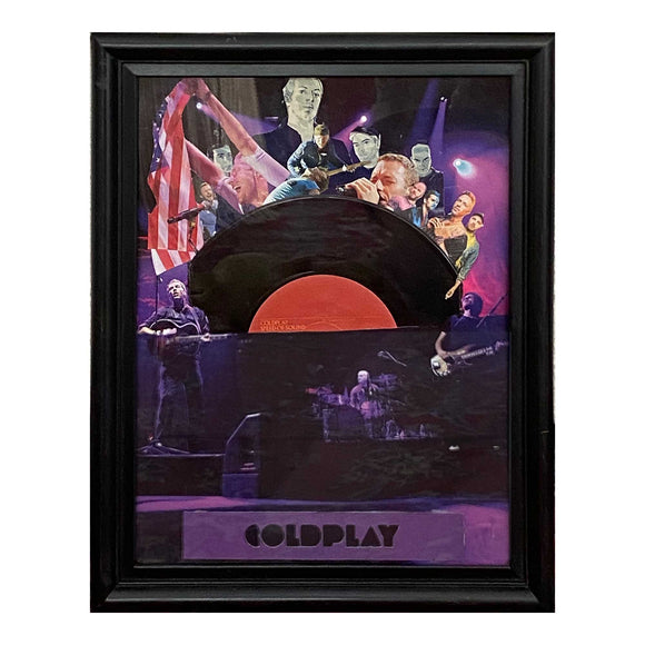 Coldplay Speed of Sound Framed Vinyl Record & Collage