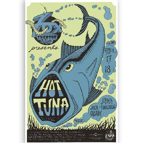 Hot Tuna Concert Poster, Boulder Co 1992