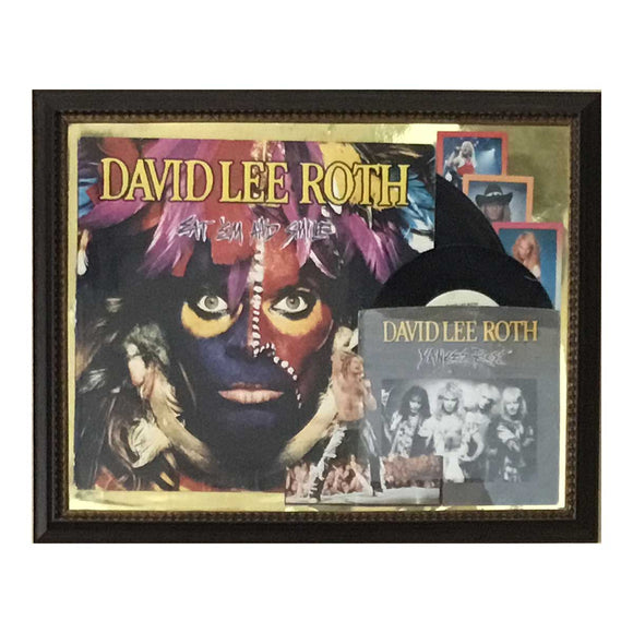 David Lee Roth Framed Record Collage