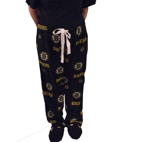 Boston Bruins Womens Fleece Pajama Pants