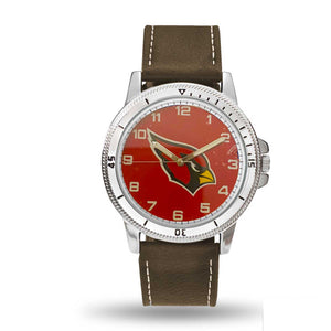 Arizona Cardinals Mens Classic Sports Watch NEW Brown Leather Band