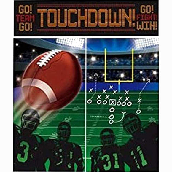 Football Touchdown Party Scene Setters Wall Decorating Kit