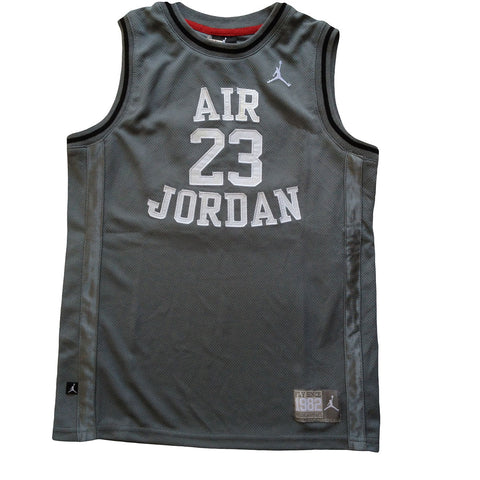 Air Jordan Youth Jersey, Gray w/White Lettering