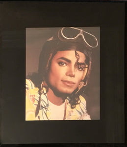 Framed Michael Jackson Pilot Photo