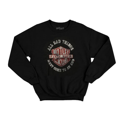 Unisex Motley Crue All Bad Things Must Come to an End Tour Sweatshirt