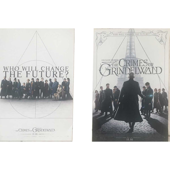 Lot of 2 Movie Promo Posters The Crimes of Grindelwald 12x18