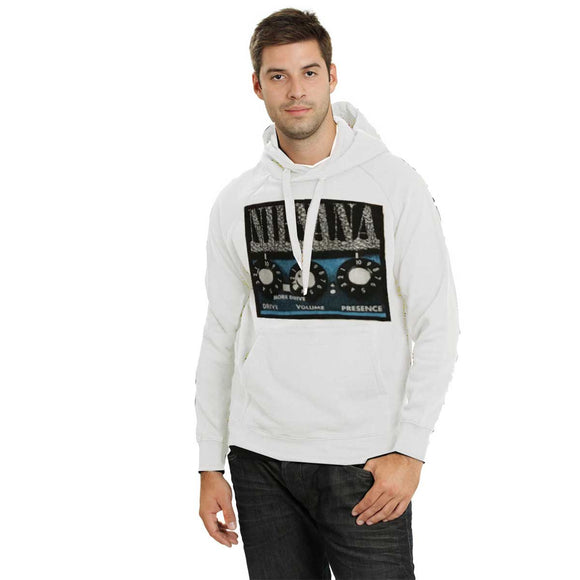 Men's Amplifier White Pullover Hoodie