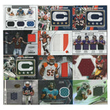 12 Card Lot - NFL JERSEY Football Cards  Sports Collectible Gifts