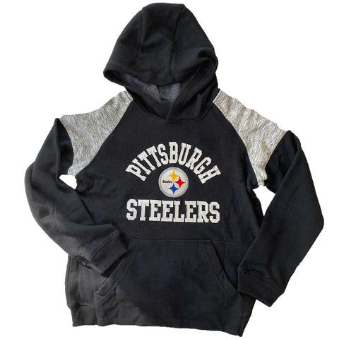Youth Pittsburgh Steelers Hoodie NFL Sweatshirt  NWT Pullover Fleece Boys 8 10