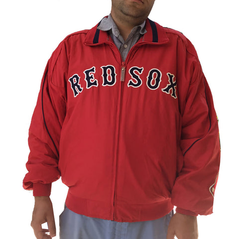 Mens Majestic Authentic Collection Red Sox Jacket Full Zip Lined Lightly Used LG
