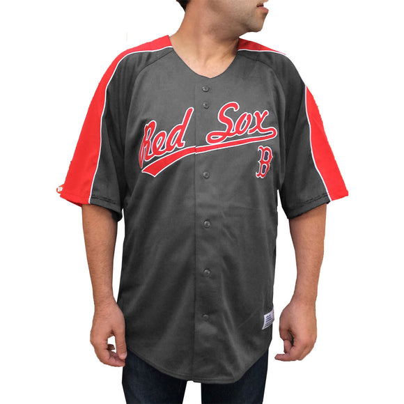 Men's Embroidered Red Sox Jersey in Gray, Dynasty Series