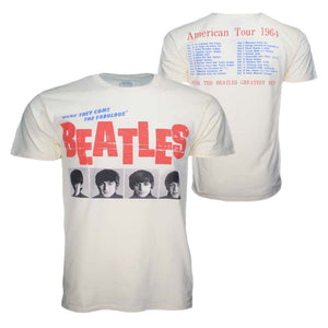 Beatles American Tour 64 Cream T-Shirt