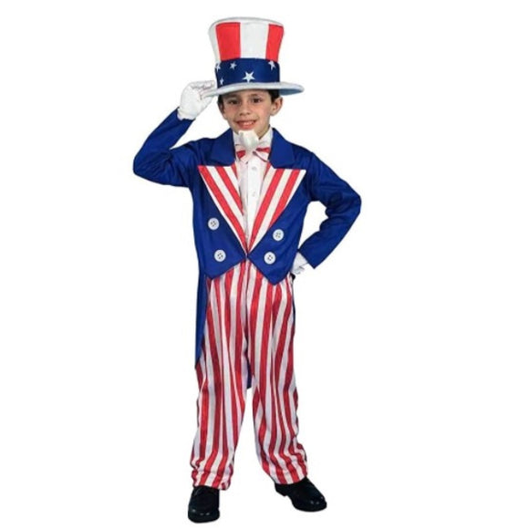 Boys Patriotic Uncle Sam Costume