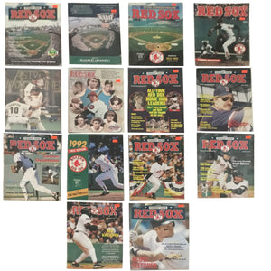 BOSTON RED SOX year books 13 OF THEM 1 EXTRA THAT IS HOUSTON ASTROS