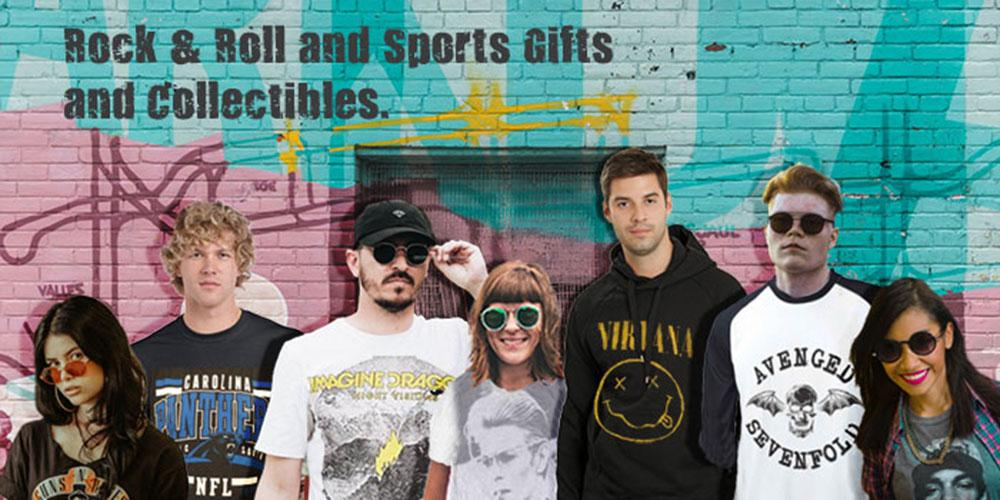 Rock & Roll and sports gifts and collectibles