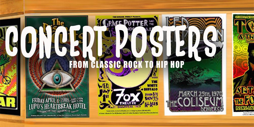 We carry hundreds of concert posters