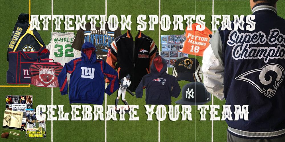 We have a huge variety of items to help you celebrate your favorite team