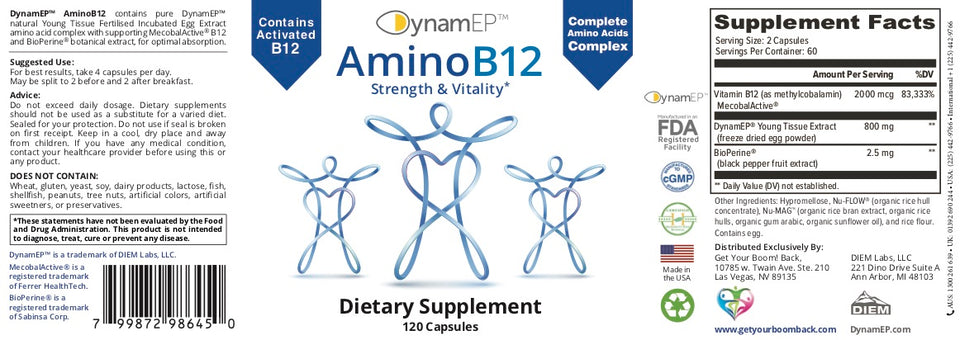 AminoB12 for Strength and Vitality