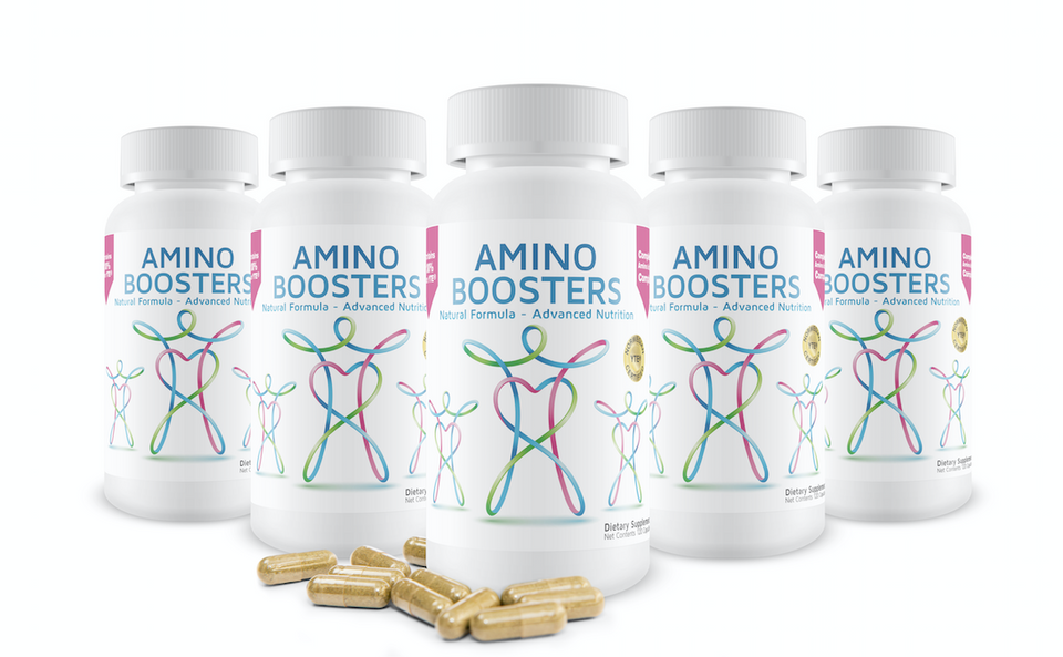 AminoBoosters Supplement w/ YTE energy booster, younger cells, stress, anxiety, collagen, immune system support, clinical dose Norwegian Young Tissue Extract & botanicals