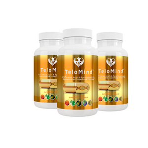 3 x TeloMind Supplement w/ YTE to look and feel younger, have more energy, stress management, reduce anxiety, immune system support, clinical dose Norwegian Young Tissue Extract