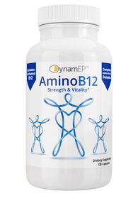 AminoB12 Supplement w/ YTE for stress management, reduce anxiety, more energy, vitality, most active B12, immune system support, clinical dose Norwegian Young Tissue Extract
