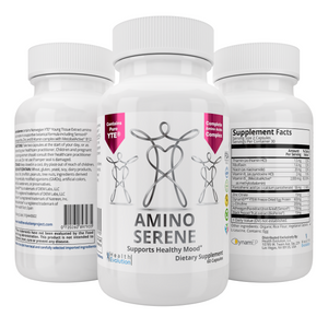 50 x NEW AminoSerene Advanced Supplement w/ YTE to calm anxiety, look and feel younger, manage stress, collagen, immune system, Norwegian Young Tissue Extract, non-dairy, vegetarian - wholesale pack