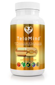TeloMind Supplement w/ YTE to look and feel younger, have more energy, stress management, reduce anxiety, immune system support, clinical dose Norwegian Young Tissue Extract