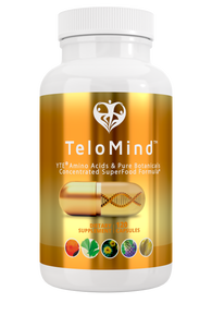 6 x TeloMind Supplement w/ YTE to look and feel younger, have more energy, stress management, reduce anxiety, immune system support, clinical dose Norwegian Young Tissue Extract