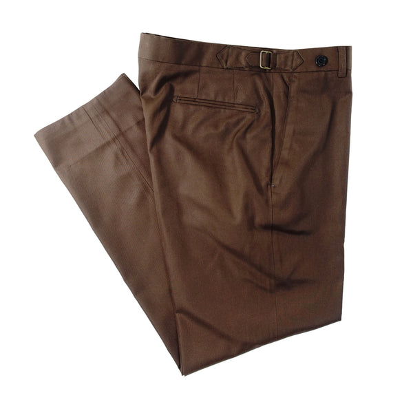 Dark Brown Cotton Trouser