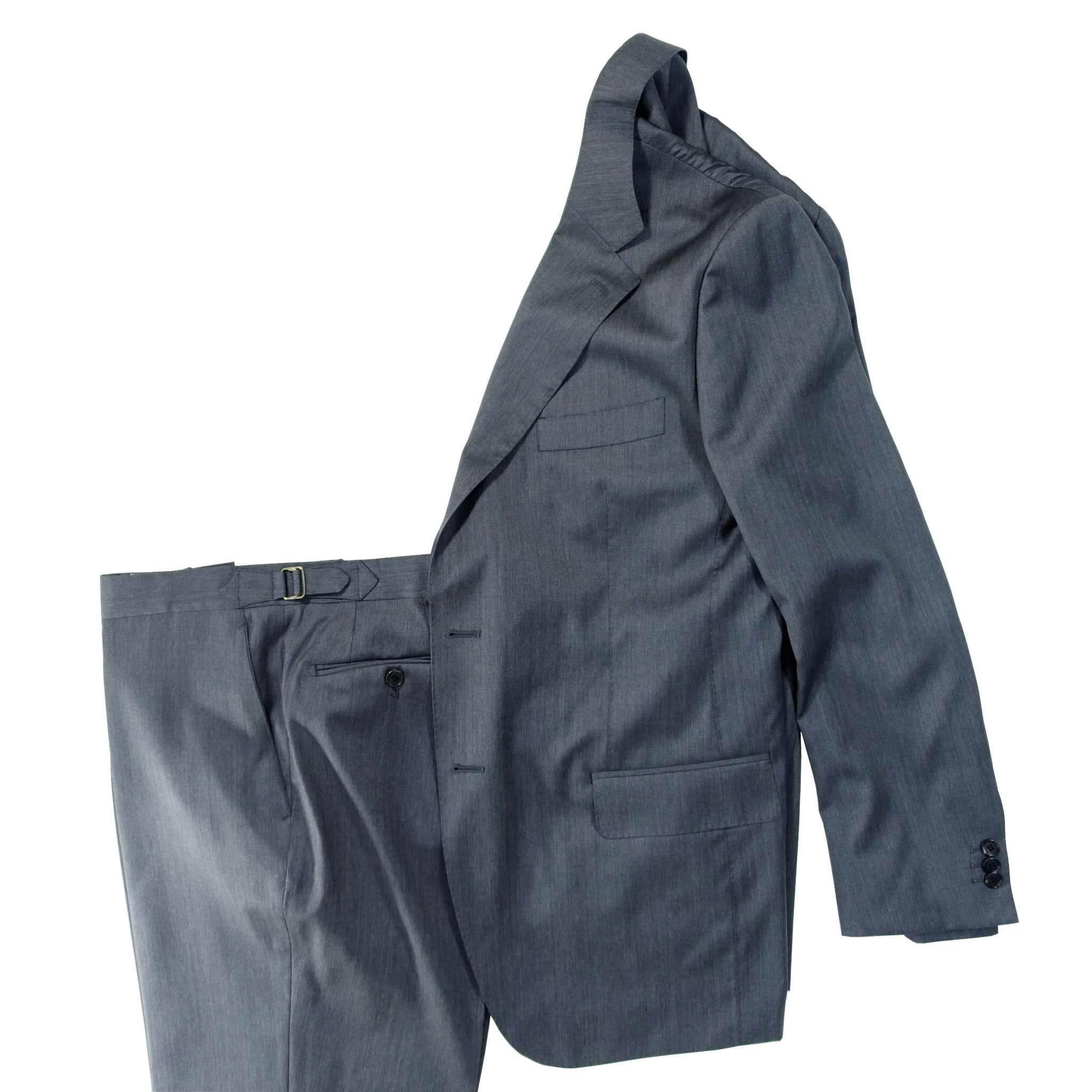 Grey Herringbone Solaro Suit