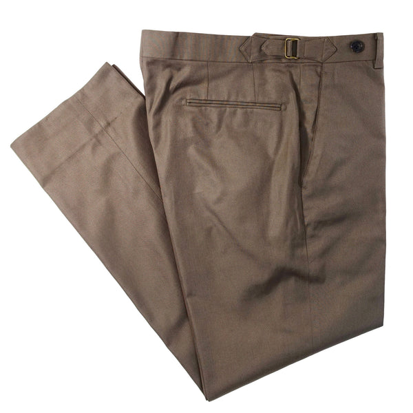 Light Brown Cotton Trouser