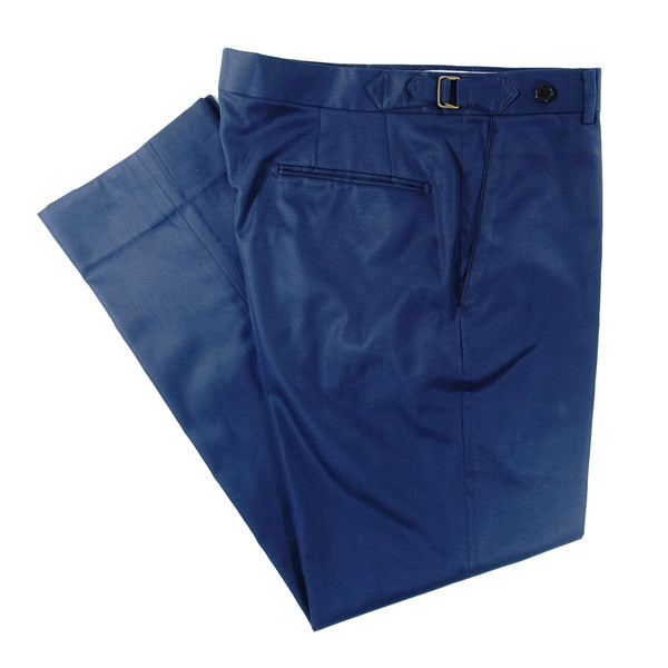 Mid-Blue Cotton Trouser