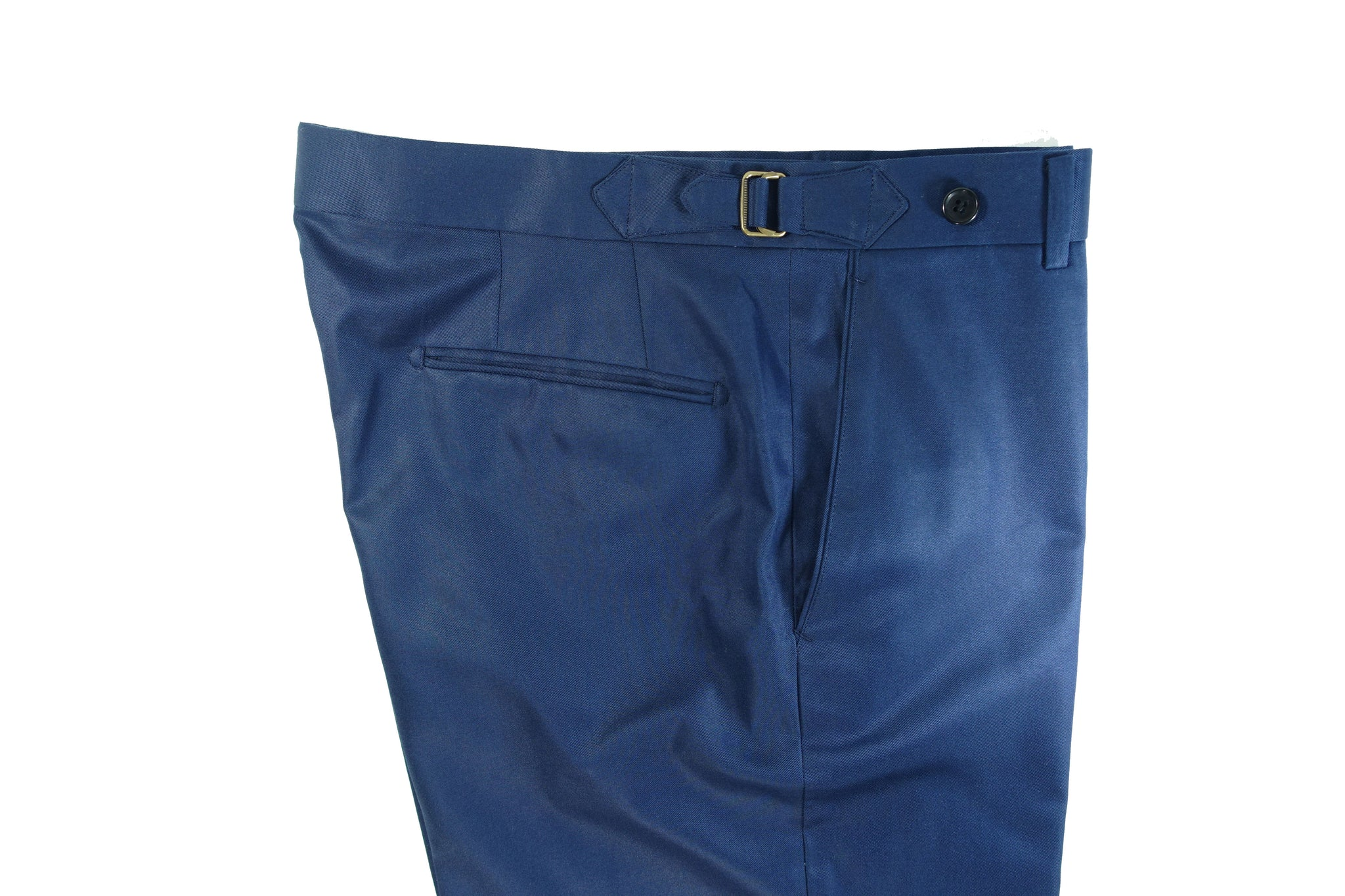 MidBlue Cotton Trousers Side