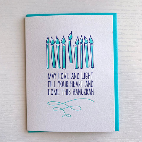 Love And Light Haunkkah Card