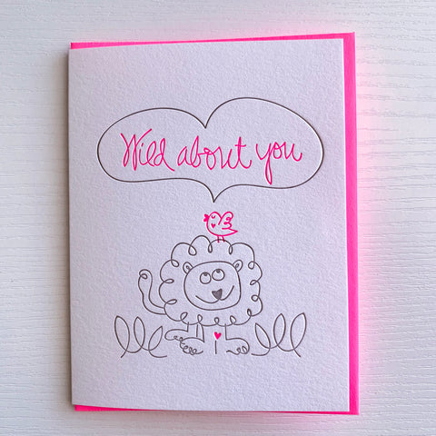 Wild About You Love Card