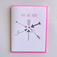 You Are Here Love Card