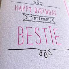 Best Friend Bestie Birthday Card